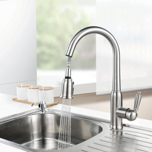 A/érateur de robinet pivotant rotatif d/économie daccessoires de cuisine Noir