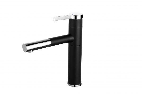 arcora bathroom vessel faucet single handle basin faucet 360 swivel spout black basin mixer tap